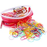 Fontee® 400 Pezzi Multi Colore Elastici per Capelli Fasce Fermacoda Capelli per Bambini Ragazze, Soprattutto per le bambine c