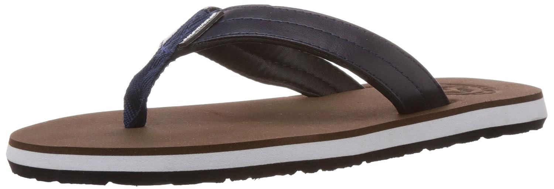 Sole Threads Men\'s Swoosh Brown and Navy Flip Flops Thong Sandals ...