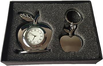 Tiamo Apple Table Clock With Apple Keychain