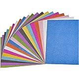Cizen Papier Paillette Autocollant, 20pcs Papier Paillette Autocollant A4 Feuilles pour Scrapbooking Carte DIY Décoration Alb