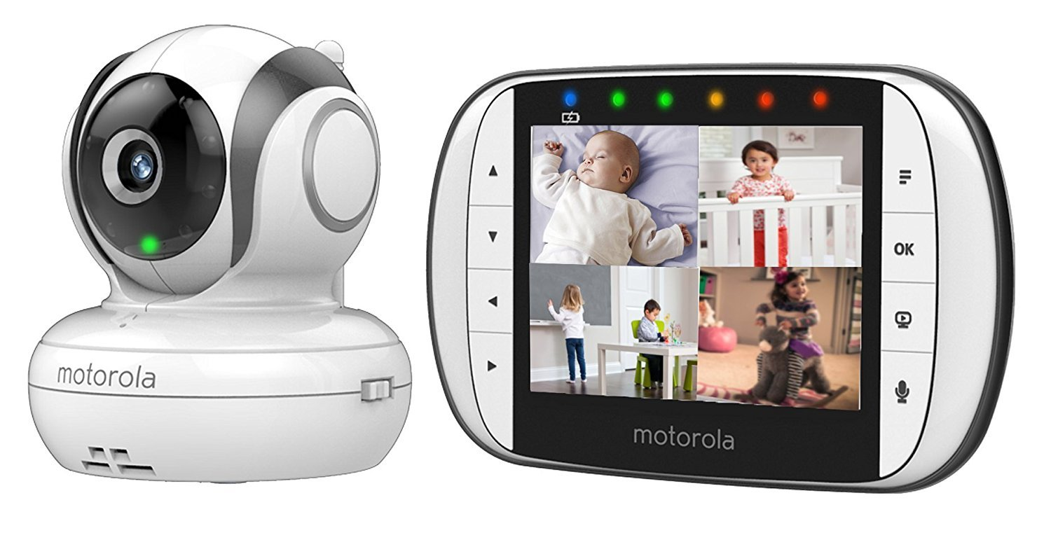 Motorola MBP36S Video Baby Monitor (NEW 2018 version) Motorola Features 3.5 inches colour tft led display with 320 x 240 resolution Motorised pan, tilt and digital zoom comes with up to 270 degrees viewing angle when rotating the camera unit left to right (and vice versa) Improved infrared night vision and battery life optimisation 3