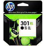 HP 301XL CH563EE, Negro, Cartucho de Tinta de Alta Capacidad Original, compatible con impresoras de inyección de tinta HP Des