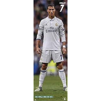 Empireposter Fussball Cristiano Ronaldo Fussball Plakat Tur Poster Xxl Door Plakat 53x158 Cm 1 Packung Tesa Powerstrips Inhalt 20 Stuck