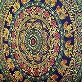 rawyal- exclusiva gama de económico Tapestries, hermoso elefante Camel Mandala Tapiz indio colgar en la pared 54x 84pulgadas, tela, Verde, 55x85 INCHES
