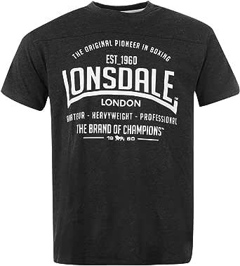 Lonsdale da uomo, t-shirt a maniche corte con scollo rotondo casual top abbigliamento