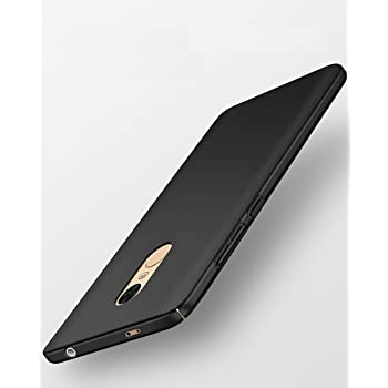 """Tapfond All Sides Protection """"360 Degree"""" Sleek Quicksand Matte Hard Case Back Cover For Xiaomi Mi Redmi Note 4 ,Black"""