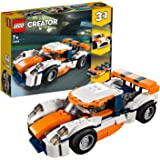 LEGO 31089 Creator LaVoituredeCourse Sportive et Bateau à Moteur 3 en 1, Jouets de véhicule pour Les Enfants de 7 Ans et P
