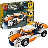 LEGO 31089 Creator La Voiture de Course Sportive et Bateau à Moteur 3 en 1, Jouets de véhicule pour Les Enfants de 7 Ans…