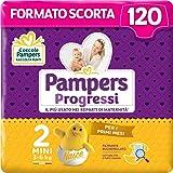 Pampers Progressi Mini, 120 Pannolini, Taglia 2 (3-6 Kg)