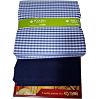 Raymond Fabrics Makers Men's Combo of Unstitched Poly Cotton Shirt and Trouser Fabric Set - Gift Pack (Multicolour_Free Size)