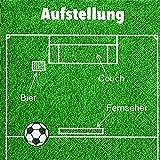 Servietten (2er Set / 40Stück) 3-lagig 33x33cm Fußball (Aufstellung)