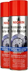 Nigrin 20411 Bremsen & Teilereiniger, 2er-Pack à 500 ml