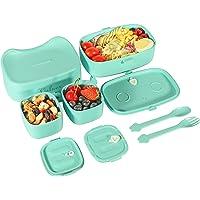 VOLUEX Bento Lunch Box pour Enfants Boîte Bento avec 3 Compartiments, Capacité de 860 ml, Sans BPA, Passe au Lave…