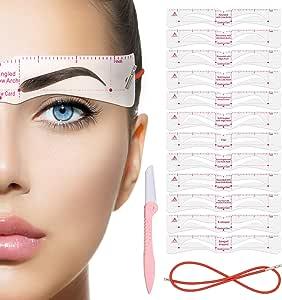 mod/èle de maquillage mod/èle de mise en forme de r/ègle d/équilibre outil de mod/èle r/églable Pochoir /à formes de sourcils Pochoirs /à sourcils