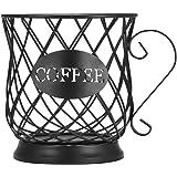 XQK Panier de Rangement de caf/é Porte-Capsules de dosette de caf/é en Fer forg/é Simple Support de dosette de caf/é Noir en Forme de Tasse de Grande capacit/é Organisation de Cuisine