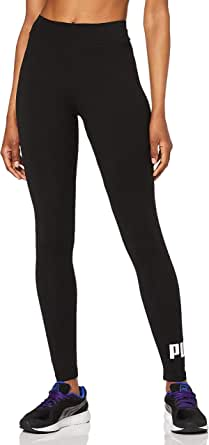 PUMA Femmes, Pantalon Leggings Logo ESS, Coton Noir, 38