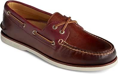 Sperry Men's Gold Ao 2-Eye Boat Shoe, Brown, 9