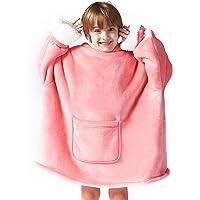 Hansleep Oversized Sherpa Hoodie Sweatshirt Super Soft and Warm Giant Hoodie Pullover Blanket with Hood One Size…