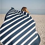 SummerSand Mikrofaser Strandtuch XXL - Strandhandtuch groß 180x160 cm – sandfreie, schnell trocknende und leichte Stranddecke