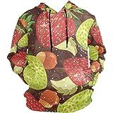 LDIYEU Fresa Fresca Sudadera con Capucha Sudaderas Deportivas con Estampado 3D Impresión Camisa de Entrenamiento para Niñas N