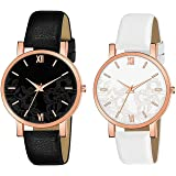 CLOUDWOOD Formal Analogue Women's Watch(Multi-Colour Dial Multicolor Colored Strap)(Pack of 2)-PK 27-30