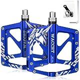 """WACCET Pedali Bicicletta Pedali MTB in Alluminio Anti-Slittamento Bici Pedali 9/16"""" Sealed Cuscinetto, Ultraleggeri Pedali Bi"""