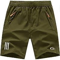 CBlue Men's Outdoor Quick Dry Lightweight Sports Shorts Zipper Pockets