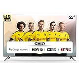CHiQ U65H7A, 65 Pouces (165 cm), Android 9.0, Smart TV, UHD, 4K, WiFi, Bluetooth, Google Play Store, Google Assistant, Chrome