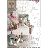 To A Special Daughter With Love - Happy Birthday - Card (JJV366)