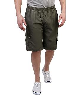 per attivit/à all/'aperto Pantaloncini cargo da uomo con elastico in vita da lavoro VANVENE stile casual