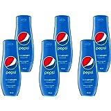 Sodastream Lot de 6 Concentrés Pepsi – 100% du Goût Original – Avec Bouchon Doseur – 6 x 440 ml