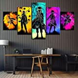 RTYUIHN 5 Soul Anime Characters Naruto Anime Poster Canvas Mural Bedroom Wall Decoration Painting