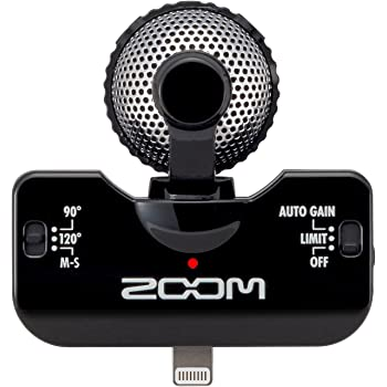 Zoom IQ-5 Black Microphone for Apple iPhone/iPad/iPod touch