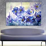 Inephos Cotton and Wood Beautiful Flowers Framed Painting, Off-White, Floral, 85 x 55 cm