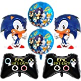 Sonic Foil Globos, Sonic Decoración para Fiestas de Cumpleaños Sonic The Hedgehog Party Supplies Juego de Decoración Sonic Er