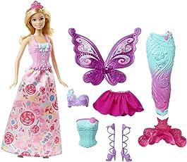Barbie DHC39 - Dreamtopia Bonbon Königreich 3-in-1 Fantasie Barbie Puppe