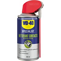 WD-40 Specialist • Nettoyant Contact • Spray Double Position • Elimine huile, dépôts gras, poussière, saleté, résidus de…