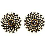 Handicraft Kottage Premium Collection American Diamond Fashion Circular Star Stud Earrings for Girls/Women