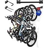 Sunix Support Mural de Rangement pour vélo, Vélo Rack de Stockage Porte-vélos Mural pour 5 vélos (2pcs)