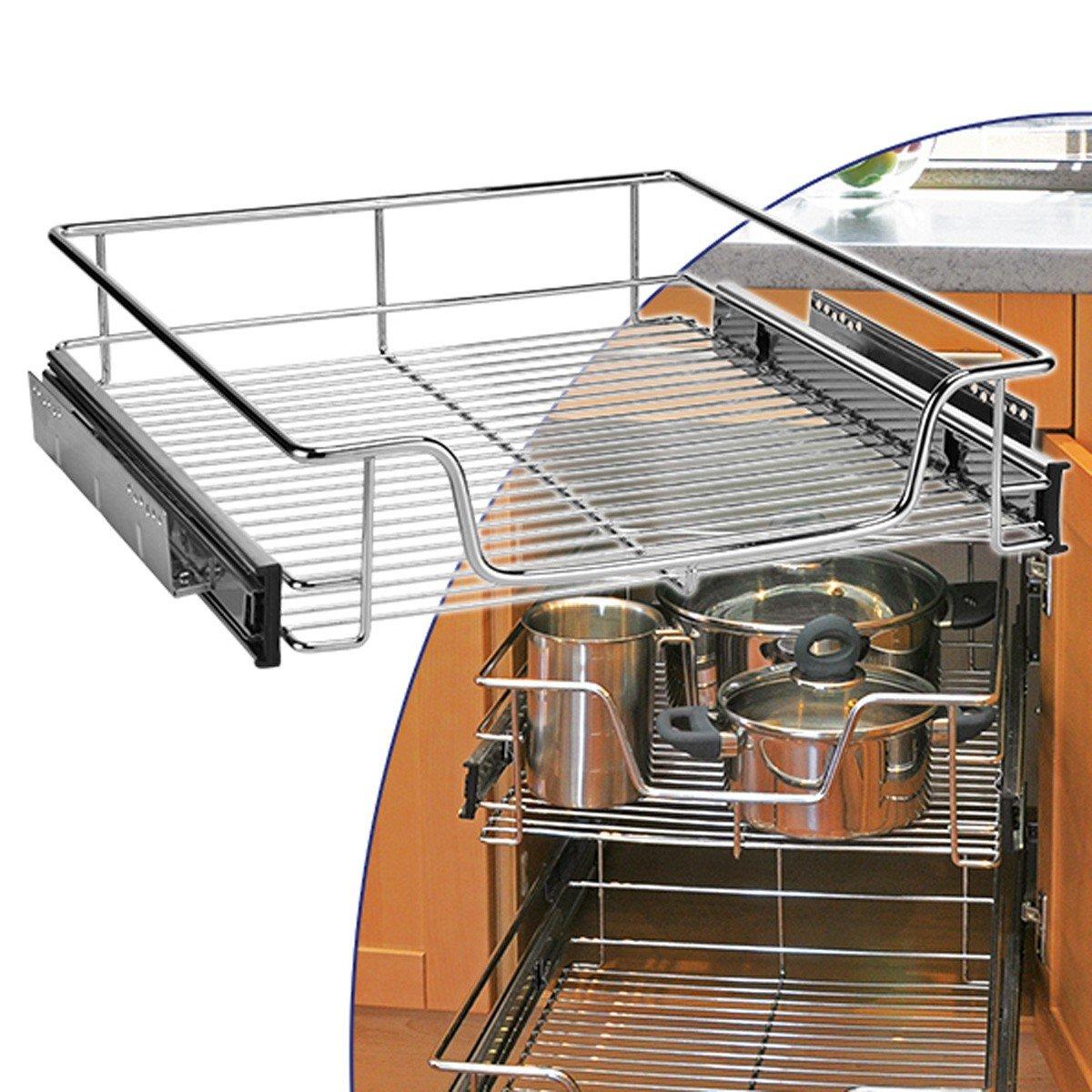 Teleskop Schublade 50cm Küchenschublade Korbauszug Küchenschauszug ...