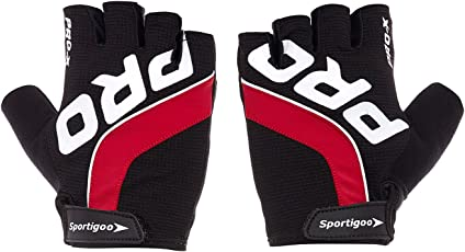Sportigoo PRO Cycling Gloves - Black/Red