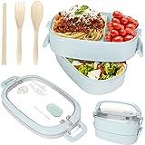 Sinwind Lunch Box, Bento Box Boite Bento, Boîte à Repas, Sécurité Anti-Fuite Écologique Hermétique Boîte à Repas pour Micro-O