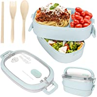 Sinwind Lunch Box, Bento Box Boite Bento, Boîte à Repas, Sécurité Anti-Fuite Écologique Hermétique Boîte à Repas pour…
