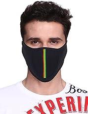 Big Tree C05A3006BK1XXCT Cotton Half Face Mask, All (Black)