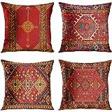 Britimes Gooi kussenhoezen Home Decor Set van 4 kussenslopen Decoratief 18 x 18 Inch Outdoor Kussen Bank Sofa Kussenslopen Kl
