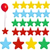 Balloon Weight, SEELOK 24pcs Plastic Balloon Weights for Helium Balloons Star Shaped Pendants for Birthday Wedding Party Deco