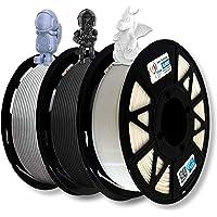 3Idea Premium PLA 1.75mm 3D Printer Filament Bundle   Dimensional Accuracy +/- 0.03mm (3KG Total, 1KG/Spool)   3 Colors…