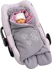 ByBoom® - Einschlagdecke für die Übergangszeit und Sommer mit Muster, für Babyschale, Autokindersitz, z.B. für Maxi-Cosi, Römer, für Kinderwagen, Buggy, Babytrage, z.B. Manduca oder Babybett