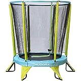 HUDORA Kindertrampoline kindertrampoline Safety 140 tuin geschikt voor binnen en buiten, groen/blauw