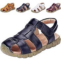 DADAWEN Boy's Girl's Closed Toe Outdoor Sandal